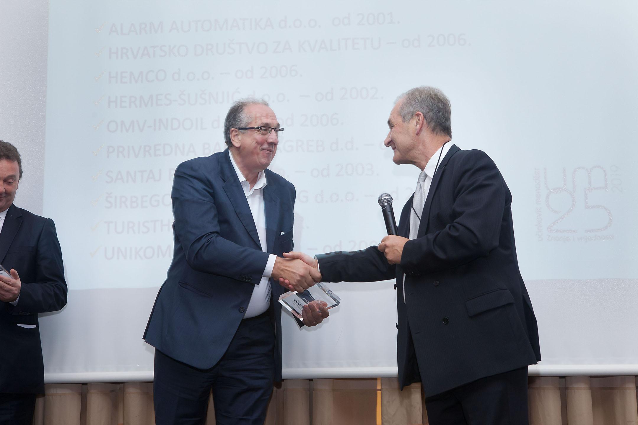 Hemco dobitnik nagrade Srebrni Učinkoviti menadžer za afirmaciju društvenih vrijednosti i plodnu poslovnu suradnju