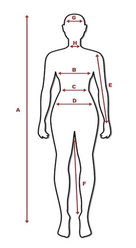 Tabela mjera za žene